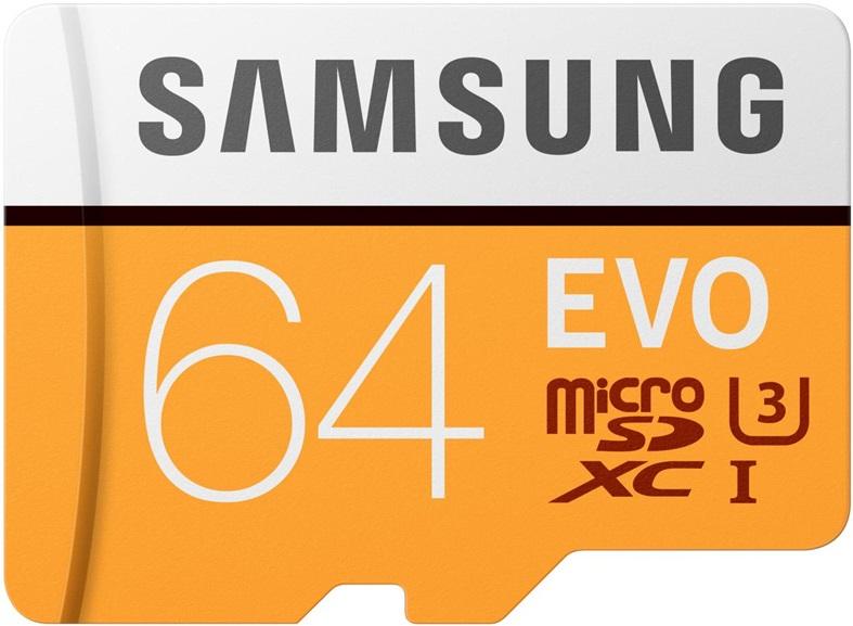 Карта памяти MicroSD Samsung EVO V2 64Gb Class10 MB-MP64GA/RU цена