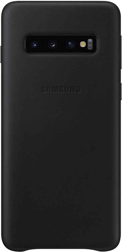 Клип-кейс Samsung Galaxy S10 EF-VG973L кожа Black клип кейс samsung galaxy s10 led ef kg973c black