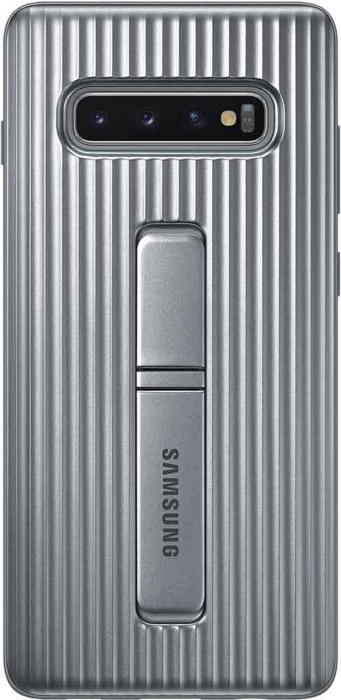 Клип-кейс Samsung Galaxy S10 Plus EF-RG975C Protective Standing Cover Silver все цены
