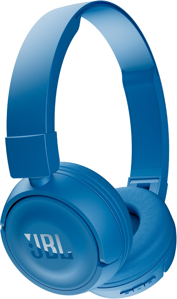 Беспроводные наушники с микрофоном JBL Bluetooth T450BT накладные Blue беспроводные наушники jbl bluetooth e25bt blue