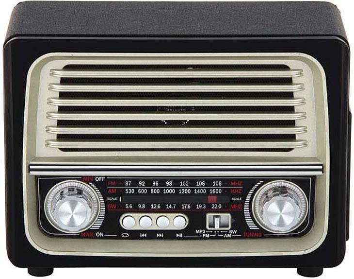 Портативный радиоприемник Max MR-370 Black-Gold фото