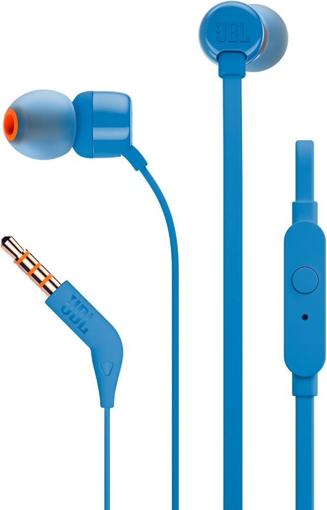 Наушники с микрофоном JBL T110 Blue наушники jbl t110 blue