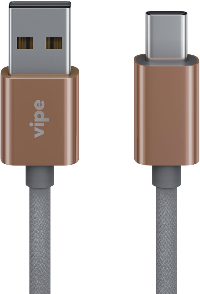 Дата-кабель Vipe USB - USB Type-C 1м Silver дата кабель redline usb type c orange