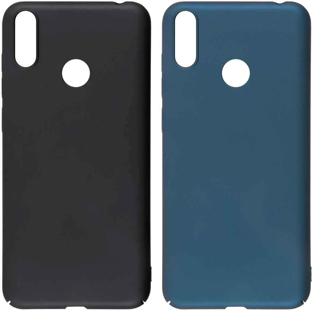лучшая цена Набор чехлов Tribe Honor 8C пластик черный и синий