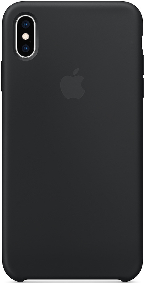 Клип-кейс Apple iPhone XS Max силиконовый MRWE2ZM/A Black фото