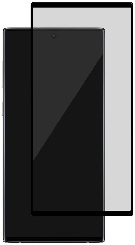 Стекло защитное uBear Samsung Galaxy Note 10 Plus 3D черная рамка фото