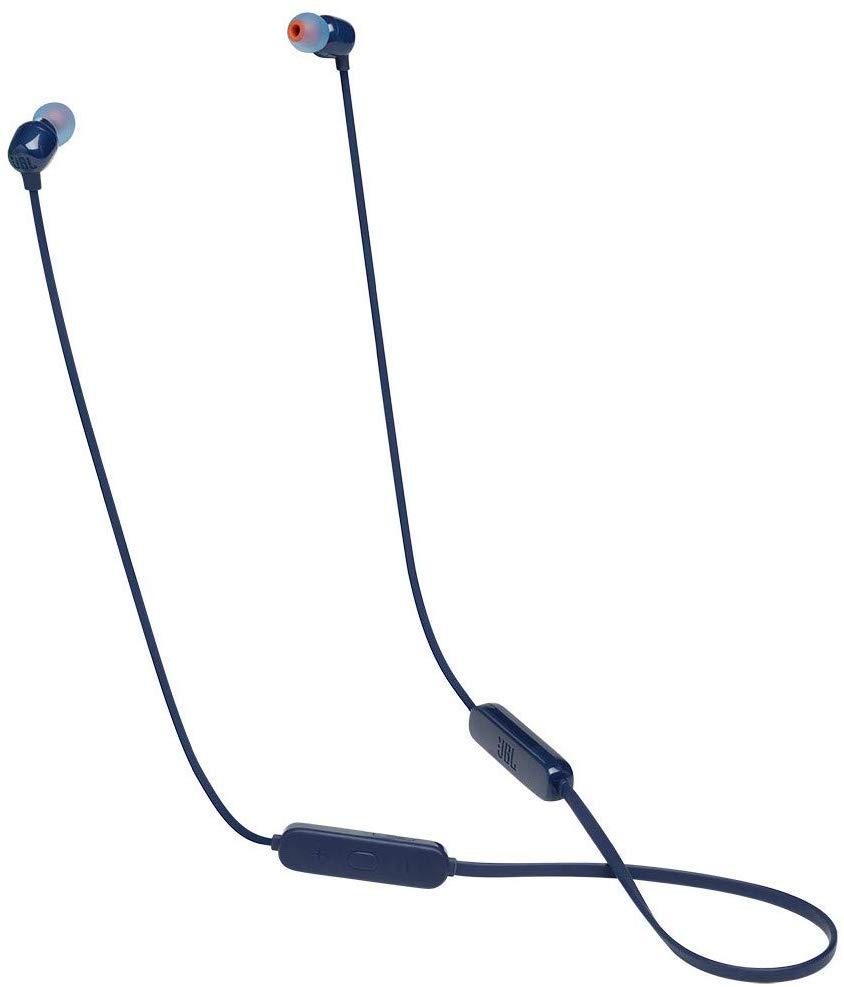 Беспроводные наушники с микрофоном JBL TUNE 115BT Blue фото
