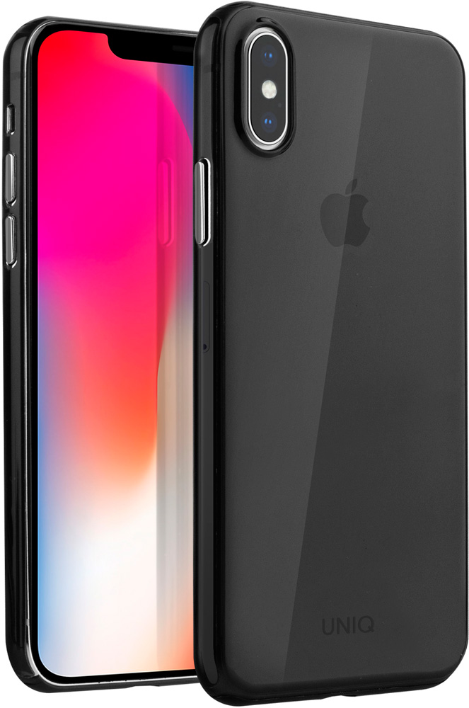 Клип-кейс Uniq Apple iPhone XS тонкий пластик Black клип кейс uniq lumence clear для apple iphone xr розовое золото