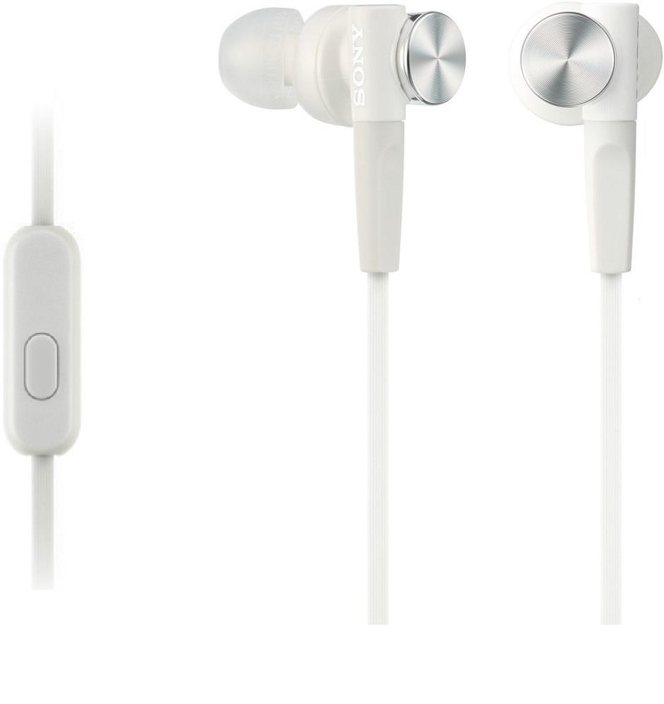 Наушники с микрофоном Sony MDR-XB50APW White цены