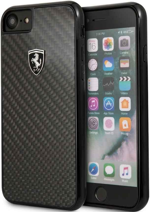 Клип-кейс Ferrari iPhone 7/8 карбон Black клип кейс ferrari iphone хs кожа black