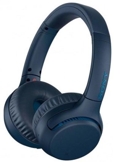 Беспроводные наушники Sony WHXB700 накладные Blue фото