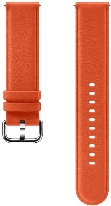 Ремешок для умных часов Samsung Galaxy Watch Active ET-SLR82M кожаный Orange фото