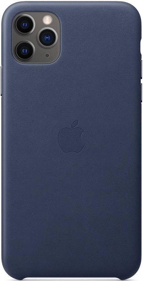 Клип-кейс Apple iPhone 11 Pro Max MX0G2ZM/A кожаный Темно-синий фото