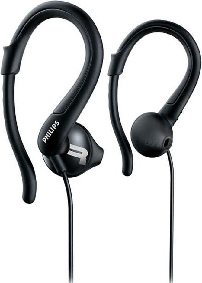 Наушники с микрофоном Philips SHQ1250 спортивные Black наушники с микрофоном philips tx2bk 00 black