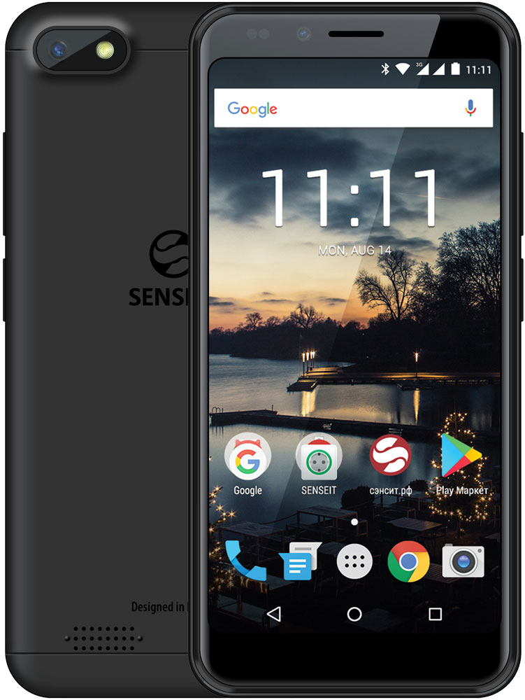 Смартфон Senseit A150 8Gb Black мобильный телефон senseit р300 black