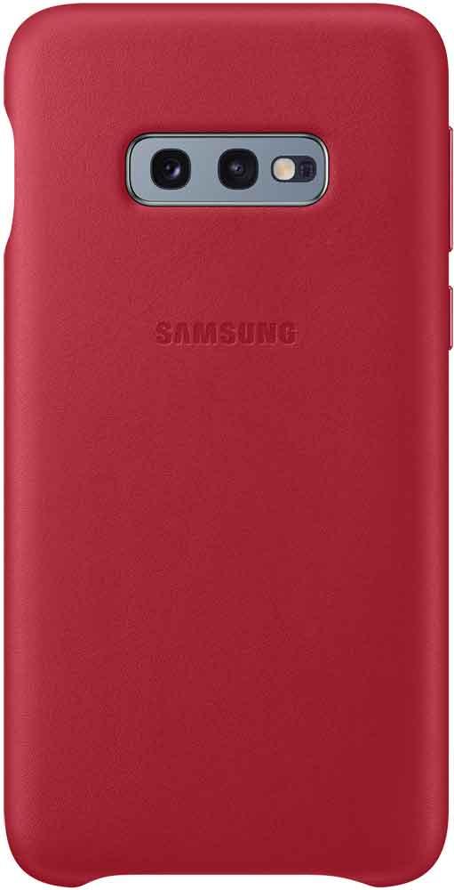 Клип-кейс Samsung Galaxy S10e EF-VG970L кожа Red клип кейс samsung dual layer ef pj330 для galaxy j3 2017 голубой