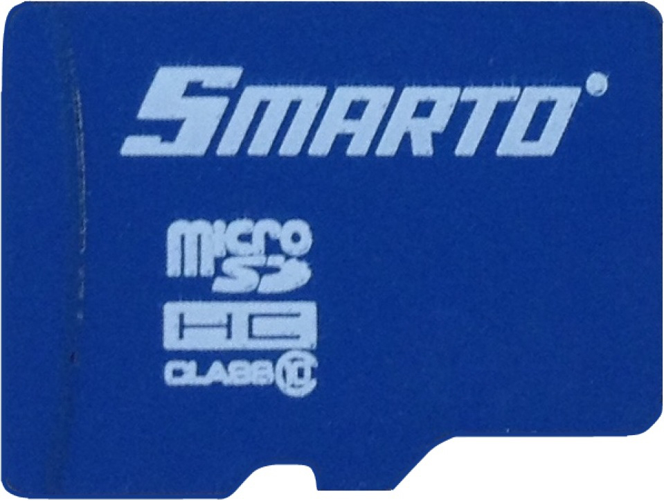 Карта памяти MicroSDHC Smarto 64GB Class10 без адаптера Blue