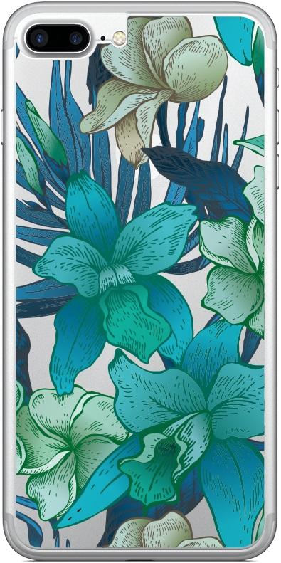 Комплект защитных стекол Borasco 18735 для iPhone 7 Plus front прозрачное/back принт лилии, комплект защитных стекол, 0317-1393  - купить со скидкой