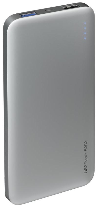 Внешний аккумулятор Deppa NRG Power 5000 mAh 2.1A 2USB графит чехол аккумулятор deppa nrg case 2600 mah для iphone 7 белый 33520