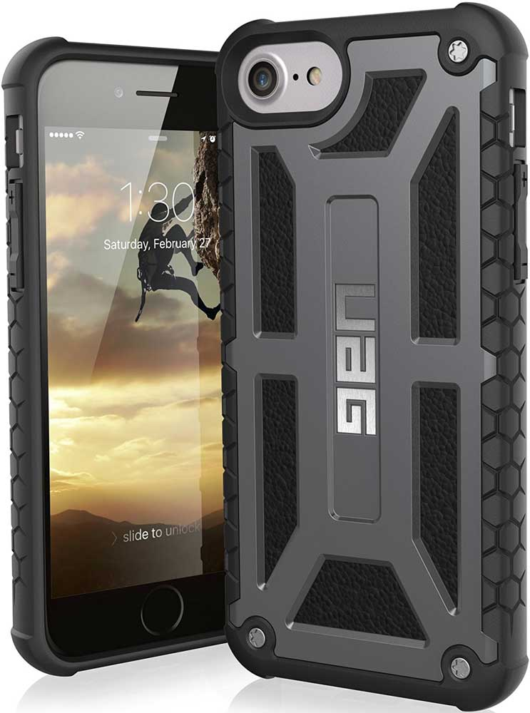Клип-кейс UAG Monarch iPhone 8/7/6 Graphite