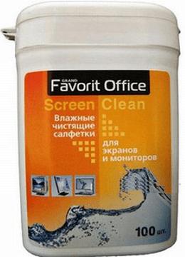 Влажные салфетки Favorit Office Screen Clean для экранов и мониторов малая туба 100 салфеток (F130002) цена и фото