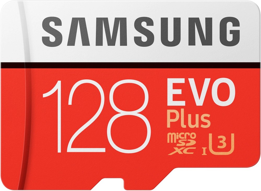 Карта памяти MicroSD Samsung EVO Plus 128Gb Class10 UHS-I с адаптером Red-White фото