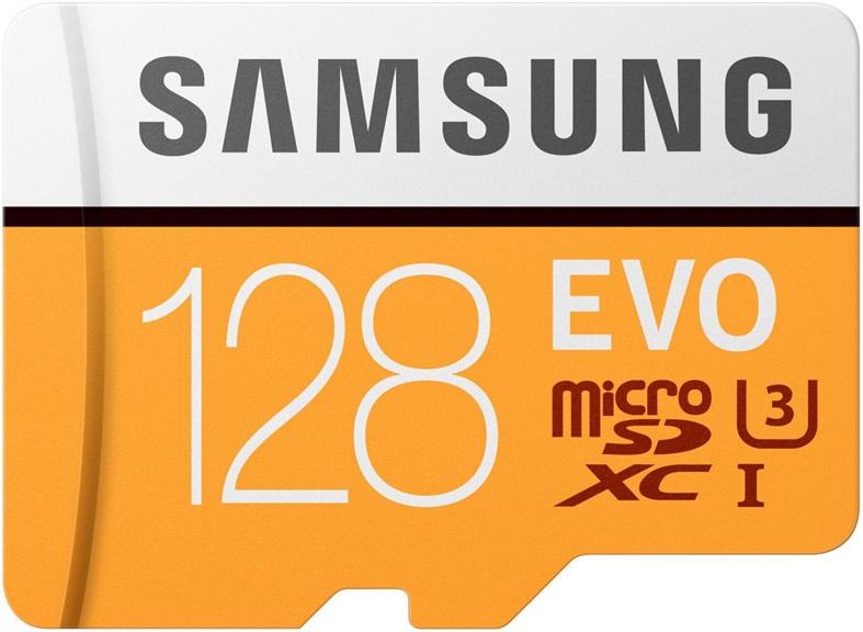 Карта памяти MicroSD Samsung EVO V2 128Gb Class10 MB-MP128GA/RU цена