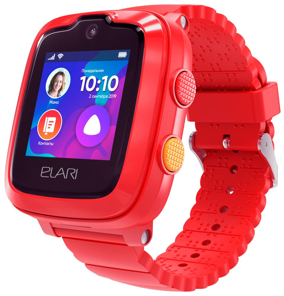 Детские часы Elari KidPhone 4G с голосовым помощником Red фото