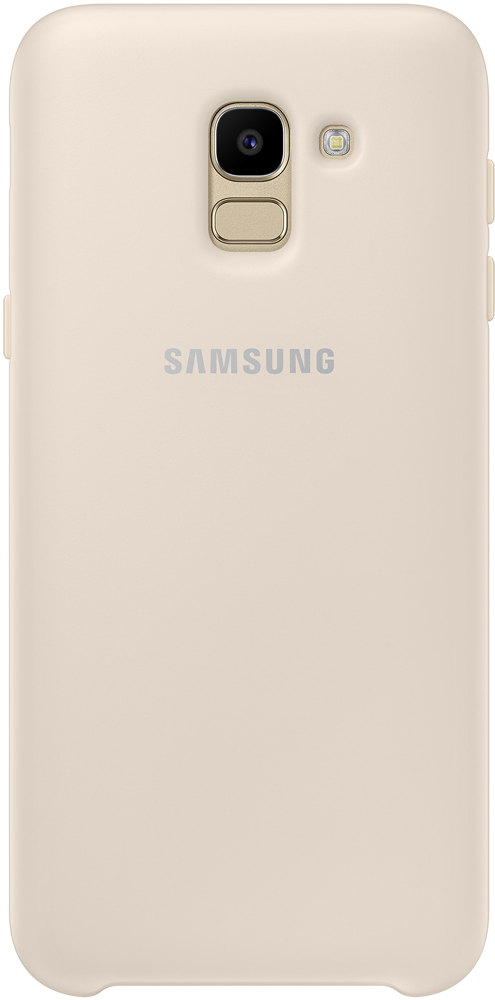 Клип-кейс Samsung Galaxy J6 Dual Layer Cover Gold (EF-PJ600CFEGRU) клип кейс samsung galaxy j4 dual layer cover gold ef pj400cfegru