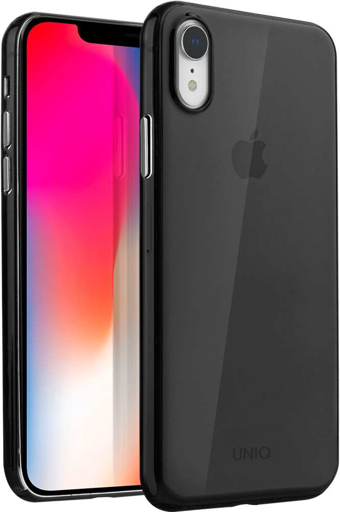 Клип-кейс Uniq Apple iPhone XR тонкий пластик Black клип кейс guess silicone для apple iphone xr черный