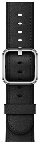 Ремешок для умных часов Apple Watch 42mm классический кожаный black (MPWR2ZM/A) wokka watch q360 black