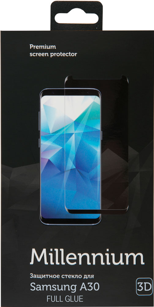 Стекло защитное RedLine Millennium Samsung Galaxy A30 3D Full Glue черная рамка стекло защитное rockmax iphone xr 3d черная рамка