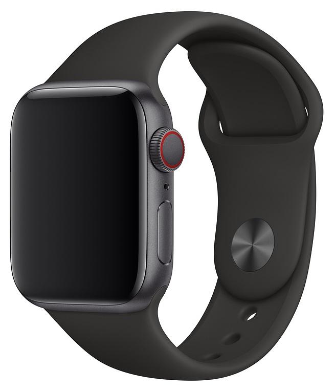 Ремешок для умных часов Everstone ES-AWBS-203 Apple Watch 42/44мм силиконовый Black цена и фото