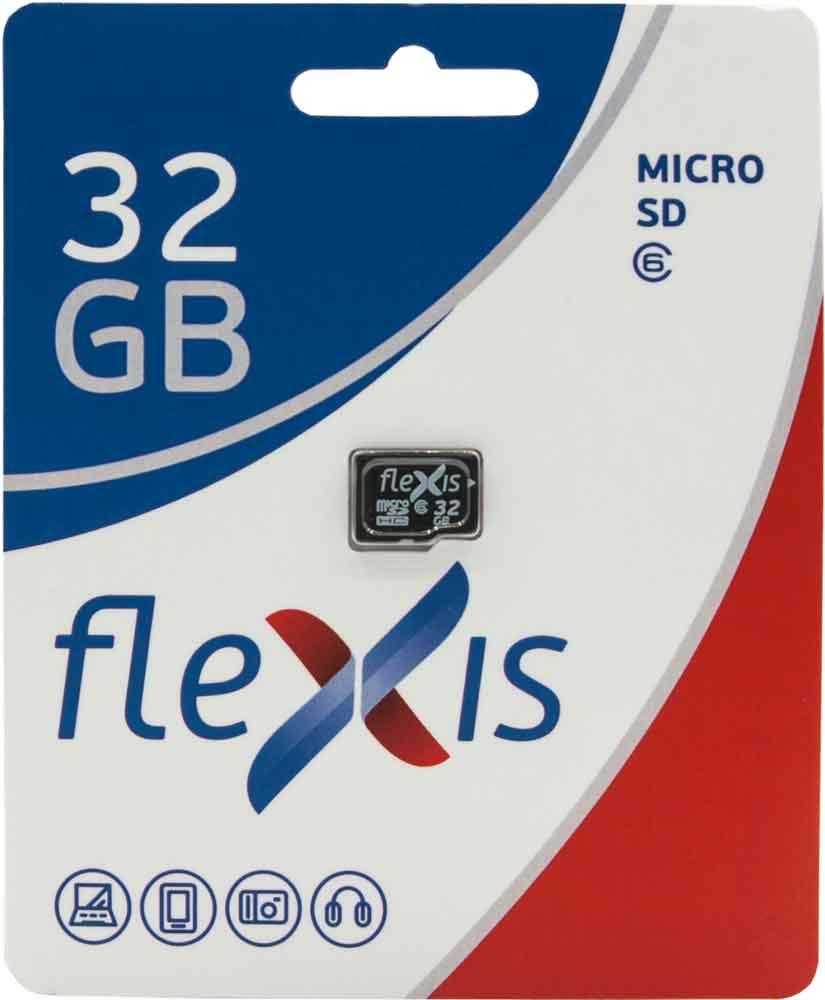 Карта памяти MicroSDHC FLEXIS 32Gb Class 6 без адаптера Black