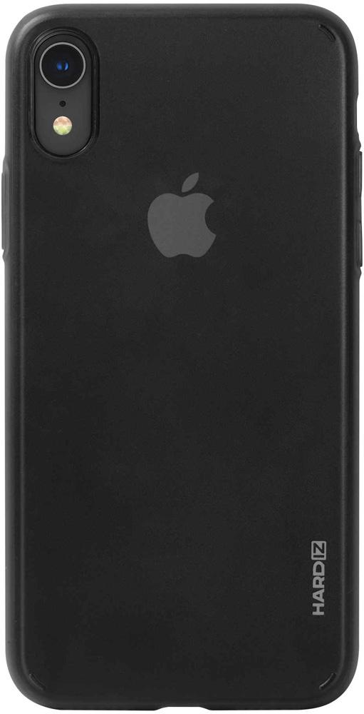 Клип-кейс Hardiz Apple iPhone XR тонкий пластик Black аксессуар чехол для apple iphone xr hardiz glass case white hrd811700