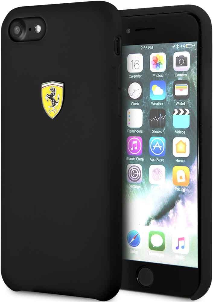 Клип-кейс Ferrari для iPhone 7/8 силикон Black назначение iphone x iphone 8 iphone 7 iphone 6 кейс для iphone 5 чехлы панели с узором задняя крышка кейс для цветы мягкий термопластик