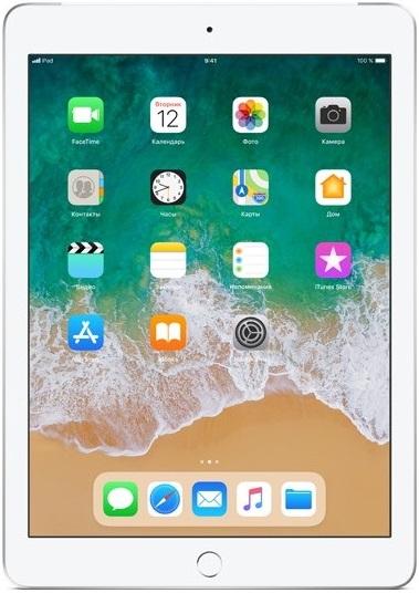 Планшет Apple iPad 2018 9.7 128Gb Wi-Fi + Cellular Silver (MR732RU/A)