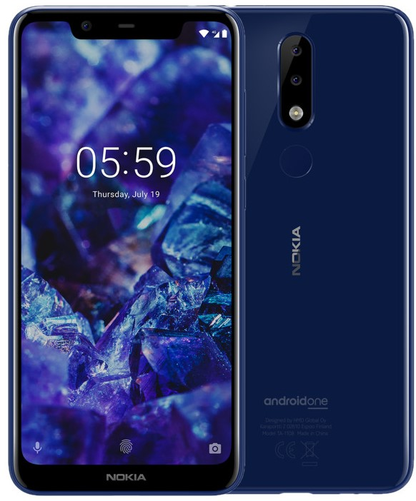 Смартфон Nokia 5.1 Plus 32Gb blue