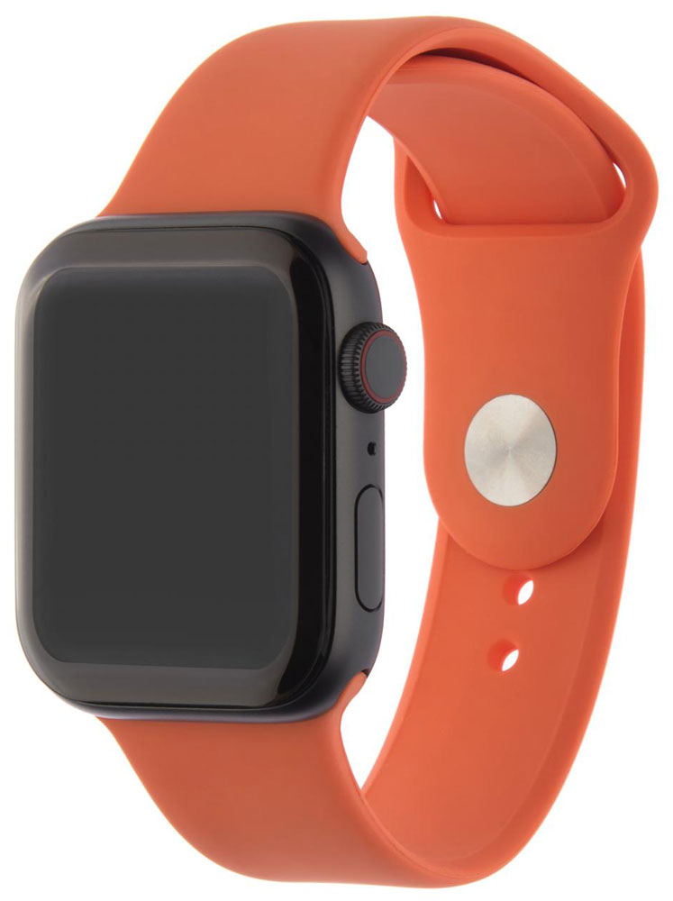 Ремешок для умных часов InterStep Sport Apple Watch 42/44мм силиконовый Orange все цены