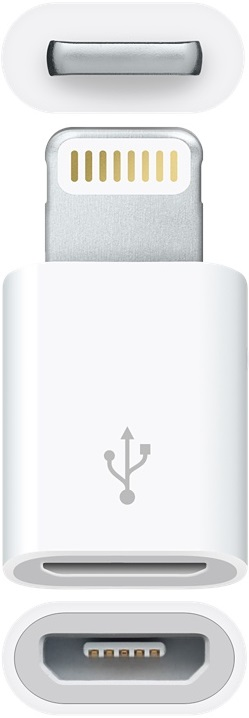 Адаптер Apple Lightning to Micro USB Adapter White цена 2017