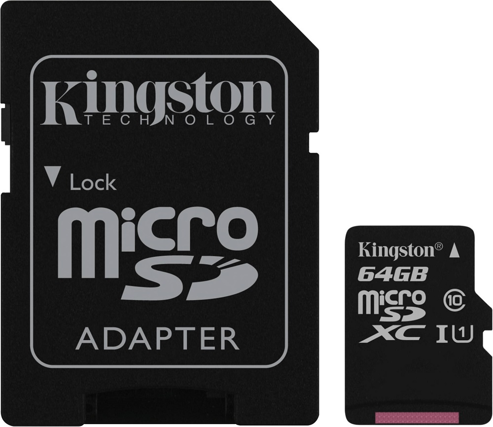Карта памяти MicroSDHC Kingston SDC10G2 64Gb Class10 U1 UHS-I с адаптером стоимость