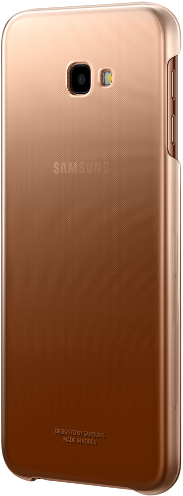 Клип-кейс Samsung Galaxy J4 Plus EF-AJ415CFEGRU Gold клип кейс samsung galaxy j4 dual layer cover gold ef pj400cfegru