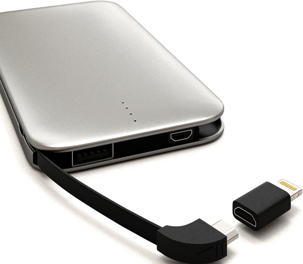 цена на Внешний аккумулятор RedLine B8000 8000 mAh металл Gray