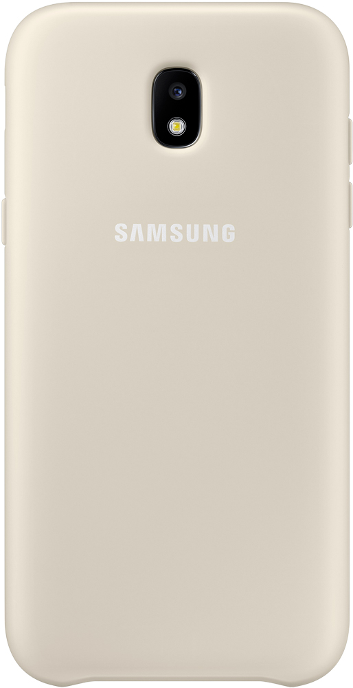 Клип-кейс Samsung Dual Layer Cover Galaxy J3 2017 Gold (EF-PJ330CFEGRU) клип кейс samsung dual layer cover ef pj530 для galaxy j5 2017 черный