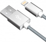 фото Дата-Кабель Akai CBL203 USB-Apple Lightning 1м Grey