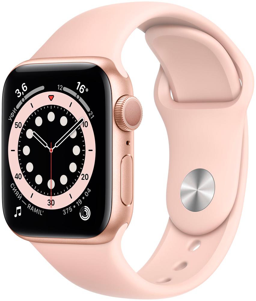 Часы Apple Watch Series 6 GPS 40мм корпус из алюминия розовый