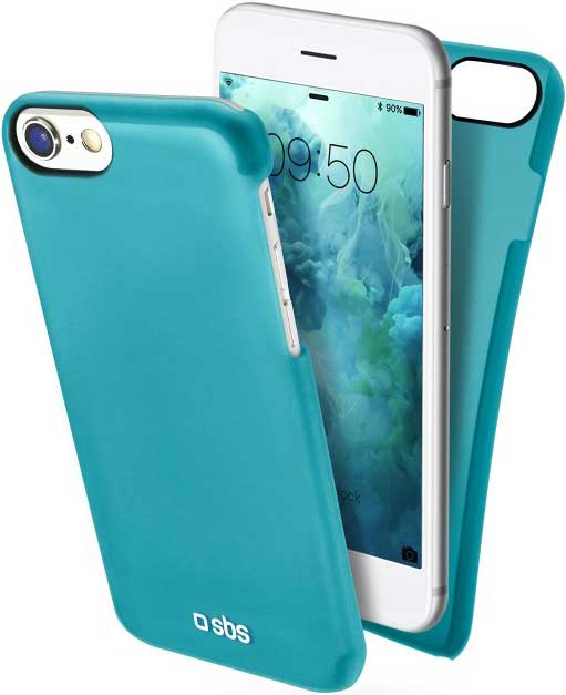 Клип-кейс SBS Apple iPhone 8 тонкий пластик LightBlue клип кейс inoi prism для apple iphone xr серебристый