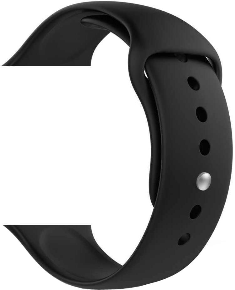 Ремешок для умных часов Sumdex Apple Watch 38/40мм силиконовый Black