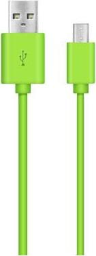 Дата-кабель Nobby DT-005 USB-microUSB 1м green кабель lightning 1м a data круглый amfial 100cmk crg