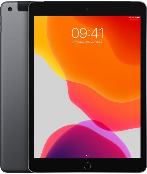 Планшет Apple, iPad 10.2 2019 32Gb Wi-Fi + Cellular Серый космос, планшет, 0200-1946  - купить со скидкой